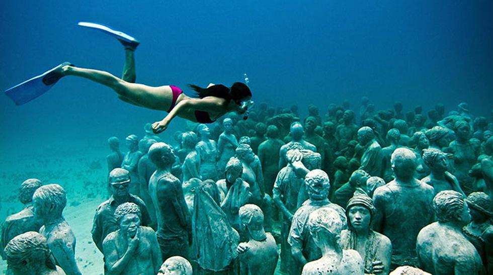 Arte bajo el mar: Mira estas esculturas sumergidas en Cancún - 3