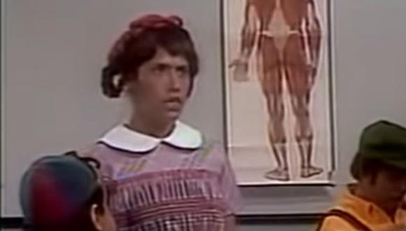 """Elizabeth sabía todas las preguntas que hacía el profesor Jirafales en la escuelita de """"El Chavo del 8"""" (Foto: Televisa)"""