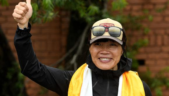 La maestra hongkonesa Tsang Yin-hung logró establecer la marca femenina más veloz de ascenso al Everest. (Foto: AFP)