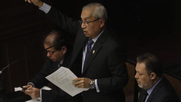 Este martes la Comisión Permanente del Congreso decidió no destituir ni inhabilitar al fiscal supremo Pedro Chávarry.(Foto: Renzo Salazar / GEC)