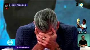 El desconsolador llanto de Goycochea en vivo por la muerte de Diego Maradona