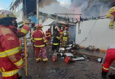 Cusco: incendio se torna incontrolable y destruye cuatro locales comerciales | VIDEO Y FOTOS
