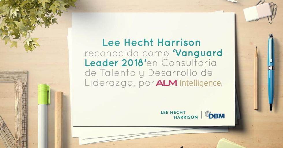"""ALM Intelligence ha reconocido a Lee Hecht Harrison (LHH) como 'Vanguard Leader' en Consultoría de Talento y Liderazgo,  situándola en los puestos más importantes para la categoría de """"Assessment o Evaluación de necesidades""""."""
