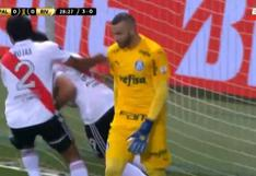 River Plate vs. Palmeiras: Rojas y el brutal cabezazo para el 1-0 que ilusiona al 'Millonario' por Copa Libertadores | VIDEO