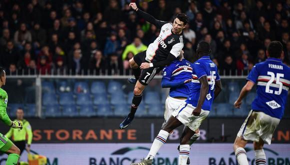Ronaldo decretó el 2-1 definitivo de Juventus contra Sampdoria por la fecha 17 de la Serie A. (Foto: AFP)