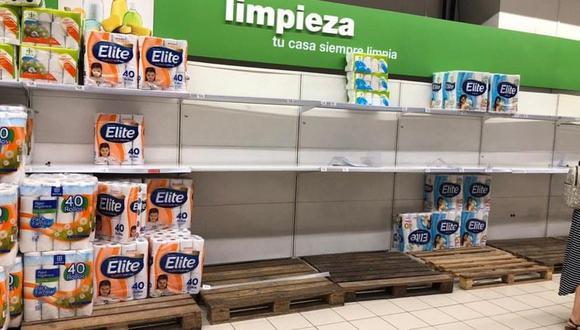 A través de Twitter, diversos usuarios han reportado la compra masiva de productos en los supermercados. En sus comentarios especifican que estos hechos se registran en San Borja, San Isidro, Surco, entre otros distritos de Lima. (Foto: Difusión)