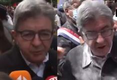 Francia: arrojan harina a líder izquierdista durante protesta en París | VIDEO