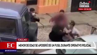 Callao: menor de edad se apoderó de fusil durante operativo policial