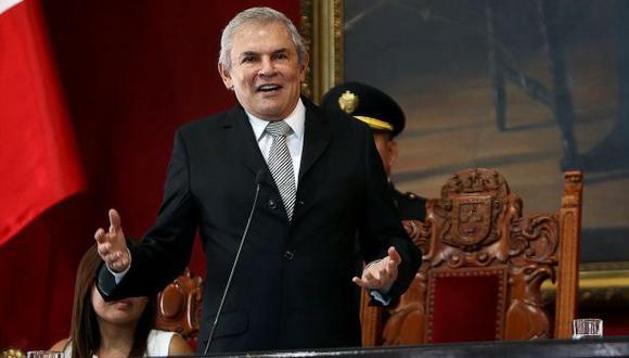 """Castañeda Lossio indicó que su partido tiene """"un equipo bastante fuerte"""" de cara a las elecciones municipales de este año. (Foto: Municipalidad de Lima)"""