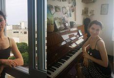 Daria Semenova, la joven rusa que canta y toca todas las noches de cuarentena para sus vecinos de Barranco