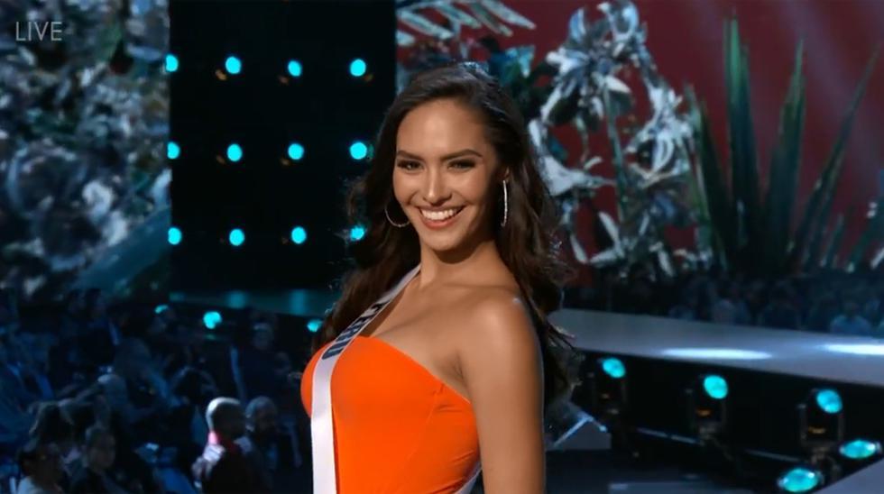 Romina Lozano, Miss Perú 2018, en el Miss Universo. (Captura de pantalla)