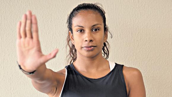 La atleta peruana Maitte Torres es rostro de la campaña que busca erradicar la violencia contra la niñez. (José Rojas)