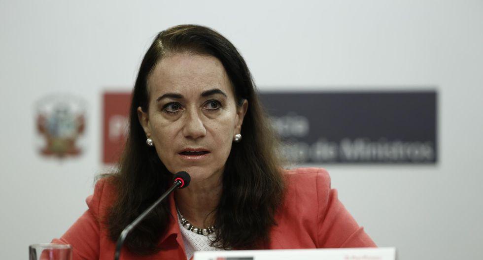Ana Teresa Revilla asumió la cartera de Justicia y Derechos Humanos en octubre de 2019. (Foto: GEC)