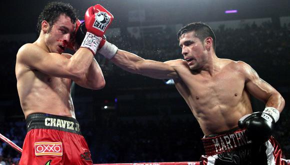 Boxeo: argentino Sergio 'Maravilla' Martínez vs. mexicano Julio César Chávez Jr. pactan revancha. (Foto: AFP)