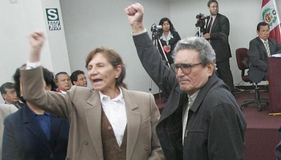 Abimael Guzmán y Elena Iparraguirre daban directivas desde la prisión a los dirigentes del Movadef, según escuchas legales. (Foto Lino Chipana / archivo El Comercio)