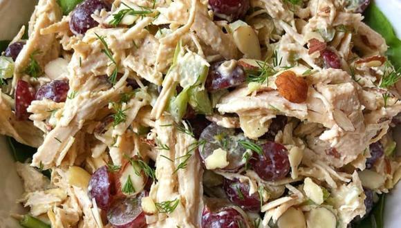 Ensalada de pollo con verduras. (Foto: _recetassaludables__ - Instagram)