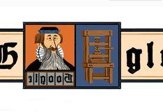 "Johannes Gutenberg: Google rinde homenaje con un doodle al ""padre de la imprenta"""