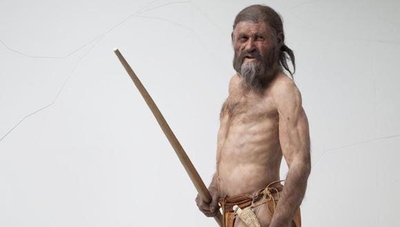 """Reconstrucción de Ötzi, el """"hombre de hielo"""". (Foto: South Tyrol Museum of Archaeology/ Ochsenreiter)"""