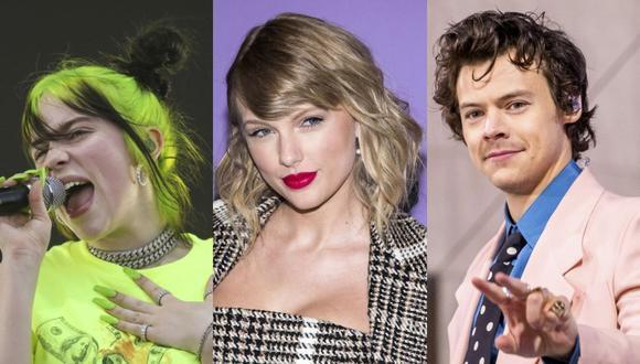 Billie Eilish, Taylor Swift y Harry Styles están entre los artistas confirmados que se presentarán durante los Premios Grammy 2021. (Fotos: AP/ Composición: El Comercio)