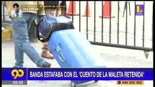 """Más de 227 denuncias en el año por en cuento de """"La maleta retenida"""""""
