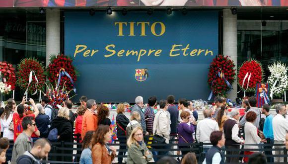 Barcelona rindió homenaje a Tito Vilanova