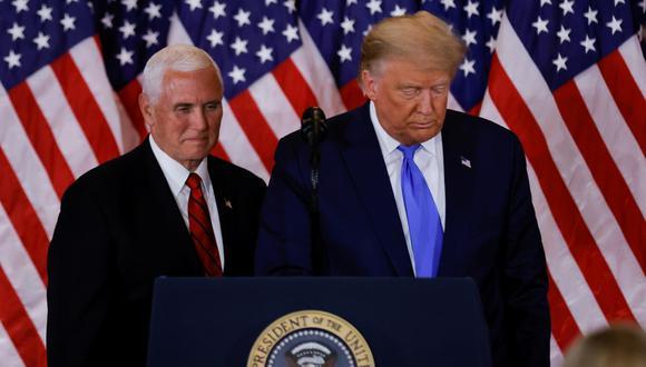 Donald Trump y su vicepresidente, Mike Pence. (Foto: Reuters)