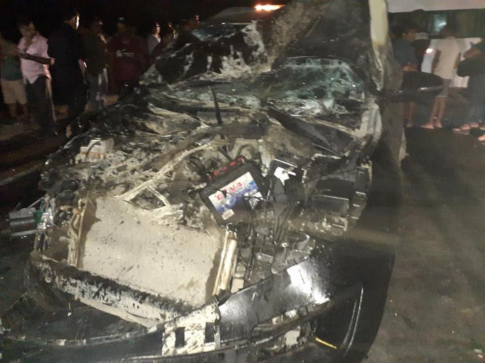 El accidente ocurrió anoche, cerca del caserío El Papayo, en Motupe. (Foto: Manuel Chérrez)