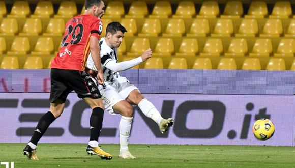 El Benevento de Gianluca Lapadula se enfrentó a Juventus por la novena fecha de la Serie A de Italia | Foto;: @juventusfc