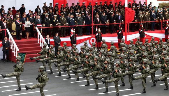Este año 2021, con motivo del Bicentenario del Perú, la parada militar se realizará el viernes 30 de julio | Foto: Andina / Archivo