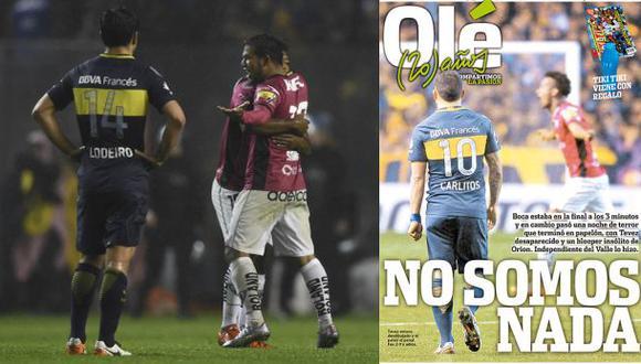 """La durísima portada de """"Olé"""" por eliminación de Boca Juniors"""