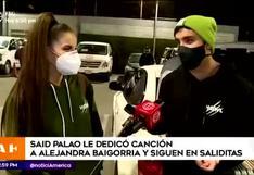 Said Palao dedica romántica canción en vivo a Alejandra Baigorria