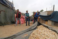 SJL: decomisan más de 30 toneladas de ajos que eran lavados en el río Rímac   VIDEO y FOTOS