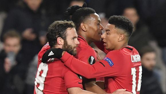 Manchester United chocará con Brujas por la Europa League. Conoce los horarios y canales de todos los partidos de hoy, jueves 27 de febrero. (AFP)