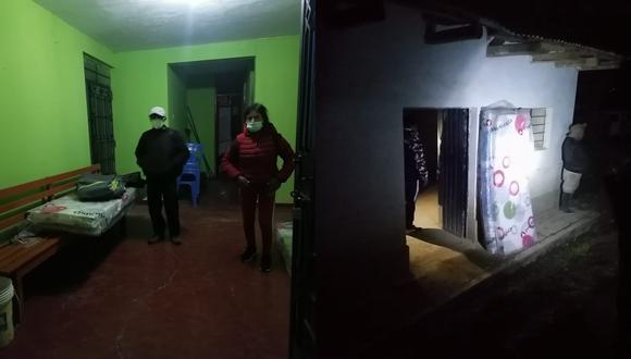Las familias y pobladores afectadas por estos fenómenos naturales, fueron instalados en un albergue temporal y se les brindo bienes de ayuda humanitaria (Foto: COER Áncash)
