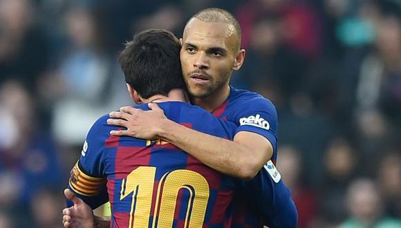 Martin Braithwaite usaba el número 9 desde que llegó al Barcelona. (Foto: AFP)
