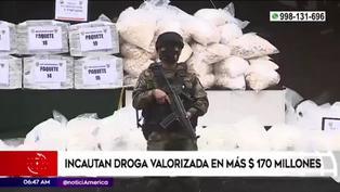 Policía Nacional del Perú incauta cocaína valorizada en más de $170 millones