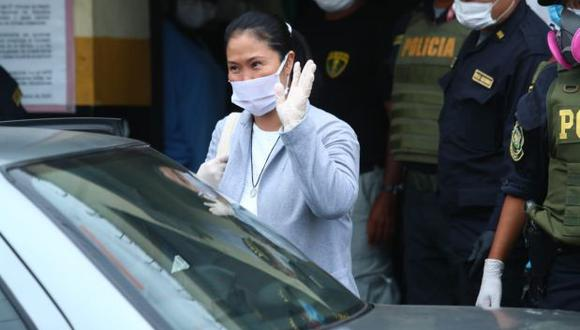 Keiko Fujimori permaneció en prisión desde el 28 de enero pasado. A diferencia de la primera vez que dejó la  cárcel, esta vez no hubo simpatizantes en los exteriores. (Foto: Alessandro Currarino/ GEC)