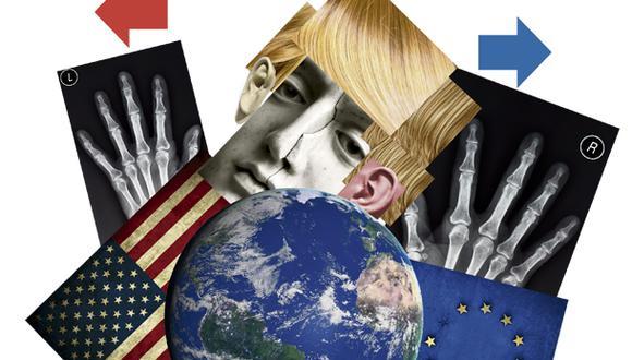 """""""Desde la caída del Muro de Berlín, las democracias occidentales vivieron un período de casi un cuarto de siglo en el que el debate estuvo orientado al centro del espectro político"""" (Ilustración: Giovanni Tazza)"""
