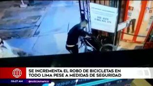 Robo de bicicletas incrementan en la capital
