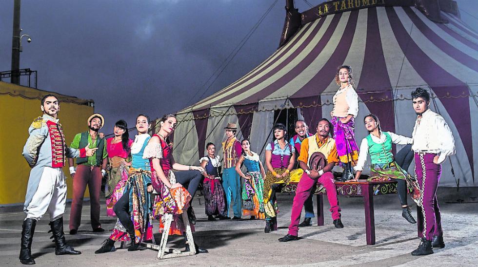 14 jóvenes del Perú, Colombia y Chile están listos para mostrar al público lo mejor del arte circense de La Tarumba (Foto: Víctor Idrogo)