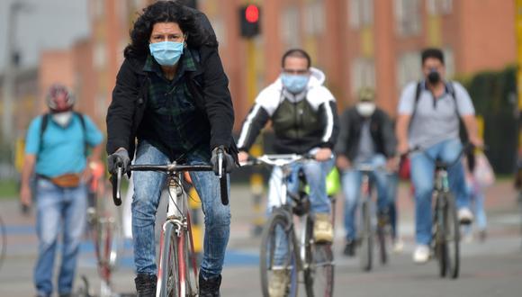 En materia de movilidad, el gobierno peruano ha sido el noveno país que ha declarado la bicicleta como un medio de transporte para poder frenar la pandemia del coronavirus. (AFP).