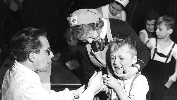 Campaña de vacunación de 1900 para prevenir la fiebre escarlata en Alemania.