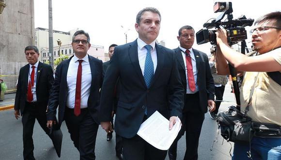 El fiscal Rafael Vela, coordinar del equipo especial, y el fiscal José Domingo Pérez hicieron solicitudes al Poder Judicial. (Foto: Andina)