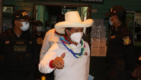 Pedro Castillo, candidato presidencial por Perú Libre, fue intervenido por la Policía en Madre de Dios | Foto: Difusión