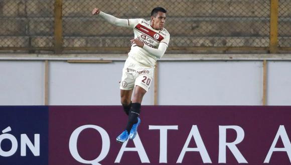 Alex Valera convirtió un doblete con Universitario de Deportes a Independiente del Valle en Copa Libertadores. (Foto: EFE)
