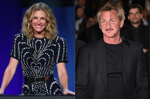 Julia Roberts and Sean Penn will work together in a series on the Watergate scandal.  (Photo: AFP- Jean-Baptiste LACROIX / ALBERTO PIZZOLI)