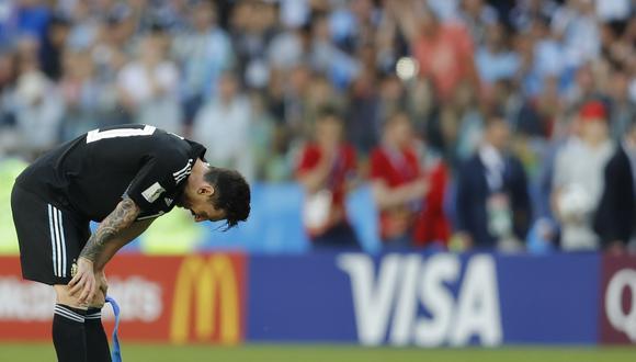 Lionel Messi falló un penal en el segundo tiempo ante Islandia.  (Foto: AP)
