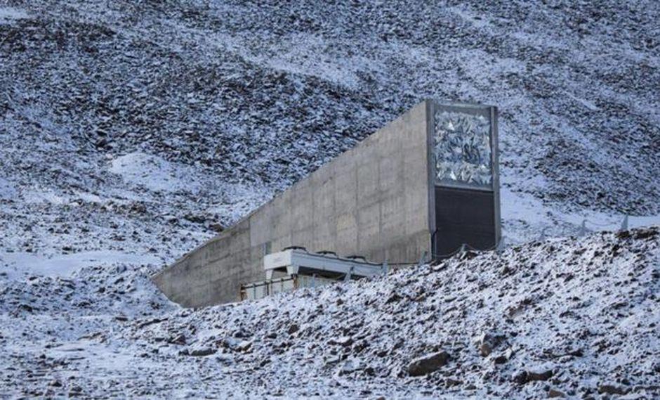 El almacén de semillas global, enclavado en una montaña, rara vez se puede visitar. Foto: Getty images, vía BBC Mundo