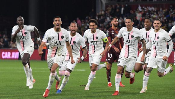 Sin Messi, PSG venció a Metz por la Ligue 1 | Foto: AFP