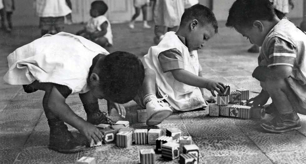 La imagen es de la década de los cincuenta (Cortesía: Puericultorio Pérez Araníbar).